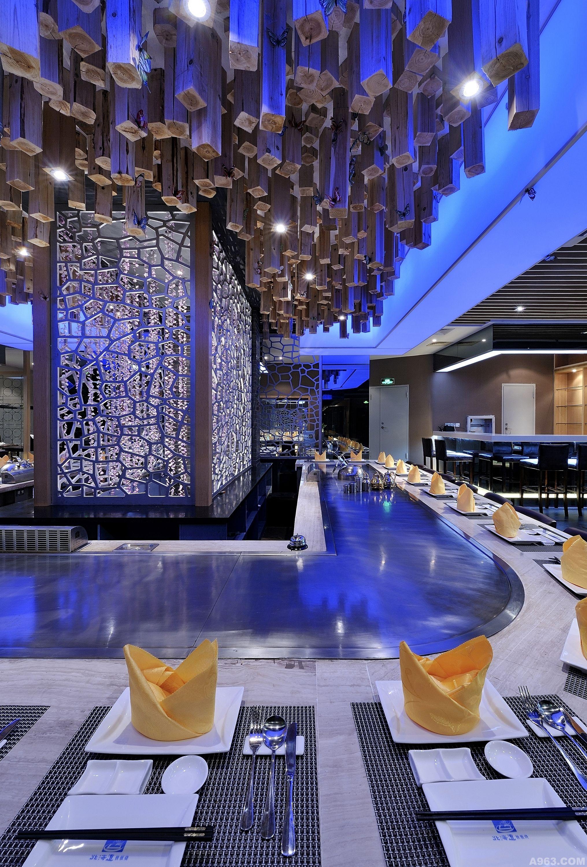 【福建原创】刘宝达餐饮空间设计--林之海(北海道铁板