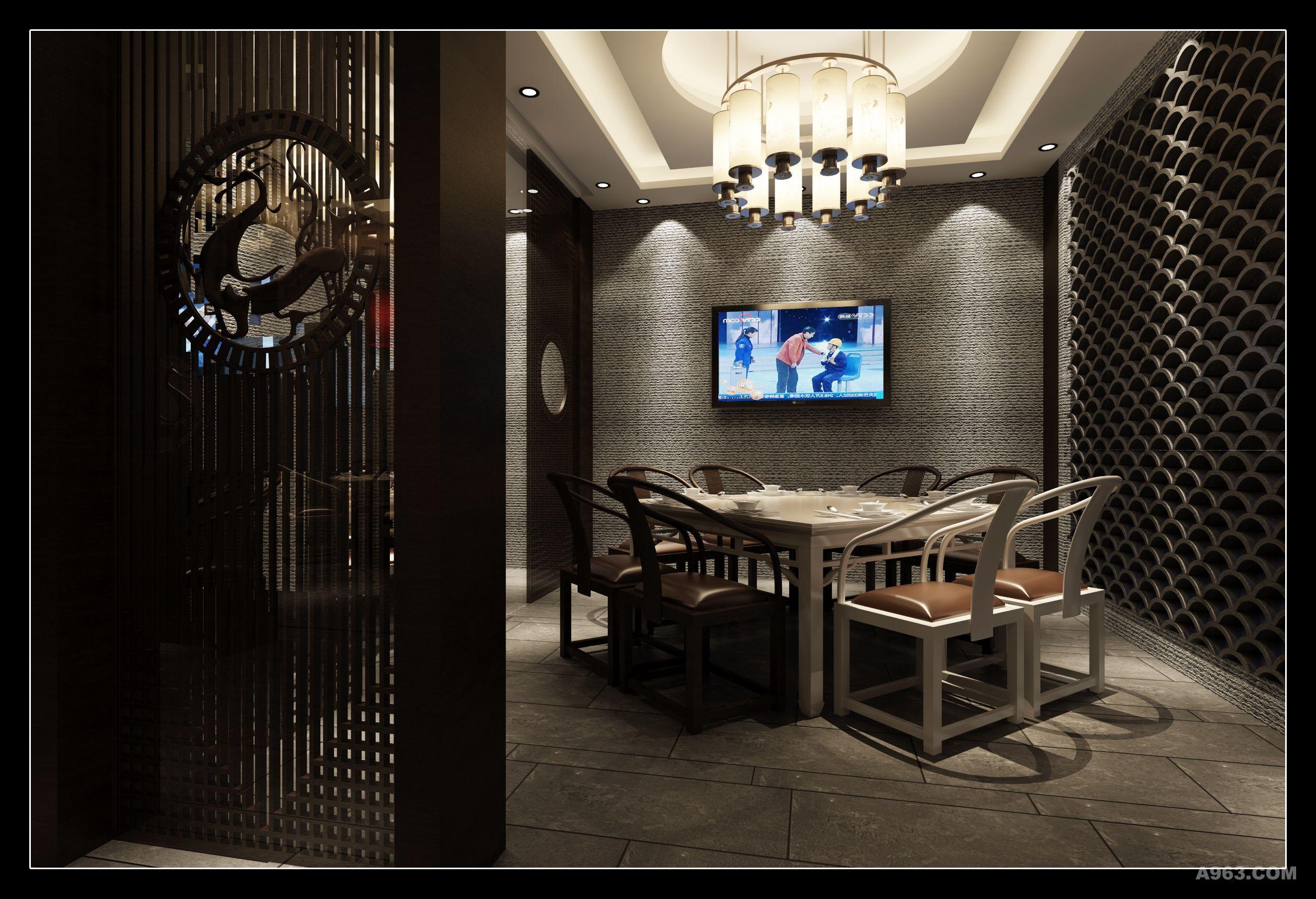 作品类别:餐饮空间      火锅店说明: 把墙绘的文化穿插在中式设